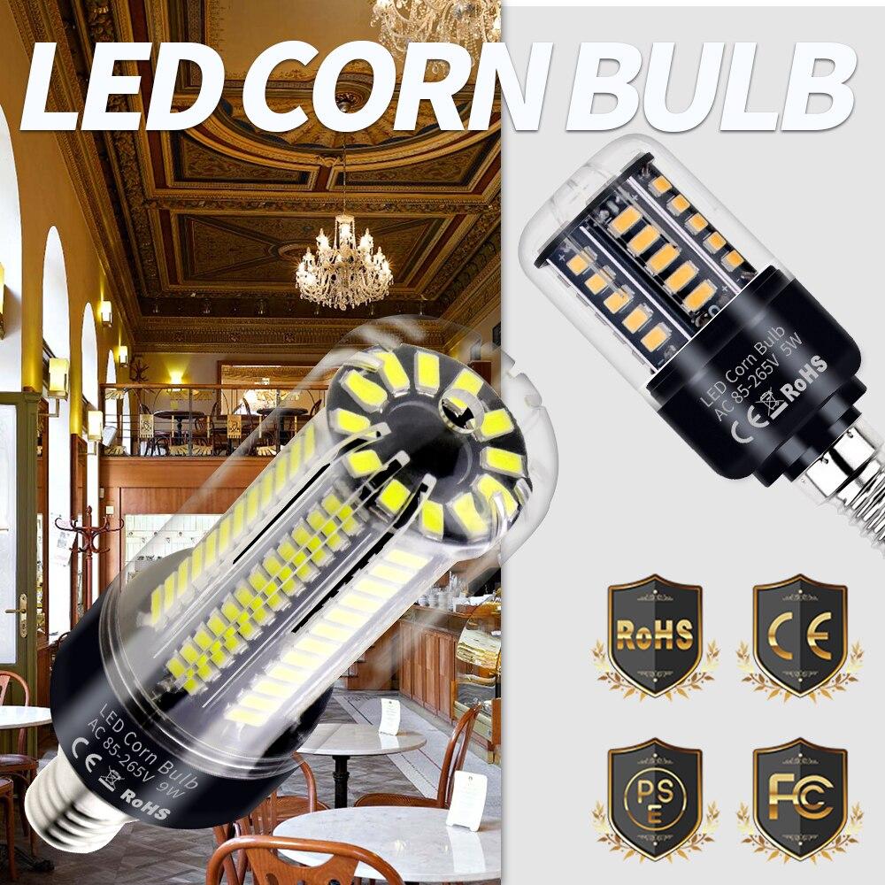 Led Corn Bulb E27 Led Lamp High Power Lampada Led E14 Candle Light Bulb 3 5W 5W 7W 9W 12W 15W 20W No Flicker Home Lighting 220V in LED Bulbs Tubes from Lights Lighting