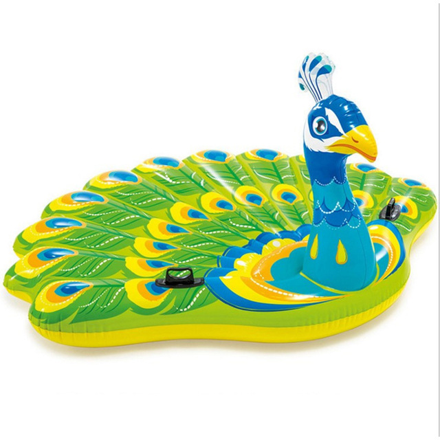 2018 Giant Summer Peacock Toys Inflatable Mattress Swimming Pool For Adults Beach  Chairs Water Bed Child