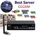 1 Год Cccam Server V8 Супер Спутниковый Ресивер HD Full 1080 P + 1 Usb Wi-Fi Cccam Клайн Europa Поддержка PowerVu Biss Ключ Set-Tv Box