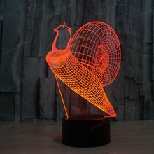 Creative illusion Lamp LED Night Light 3D Acrylic Colorful Gradient Atmosphere Novelty Lighting
