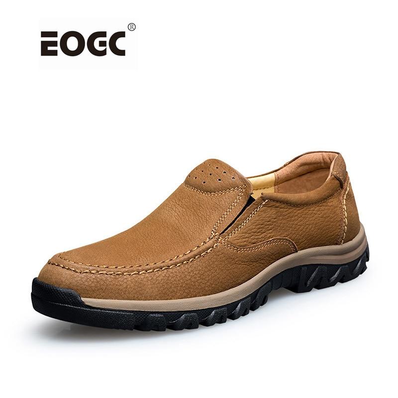Handgjorda fullkorn läder män, mode mjuka läder utomhus ankel stövlar, högsta kvalitet klassiska skor män zapatos hombre