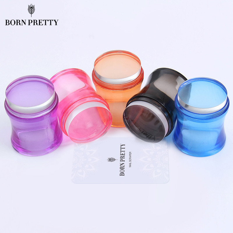 1pc Clear Jelly Stamper With Cap Nail Art Clear Silicone Marshmallow Stamper Nail Stamper & Scraper Nail Art Templates
