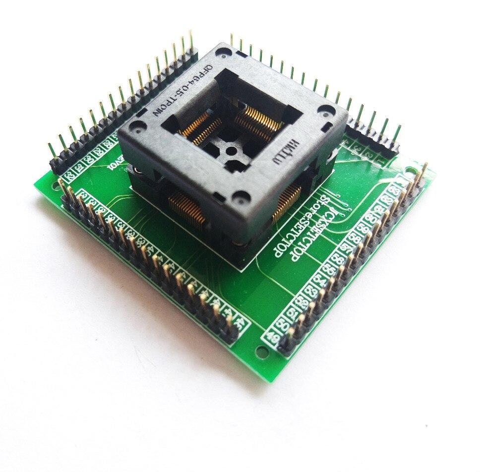 Image 3 - QFP64 TQFP64 LQFP64 гнездо адаптера IC тестовая розетка программист qfp64 гнездо tqfp6 программист adpters-in Интегральные схемы from Электронные компоненты и принадлежности on AliExpress