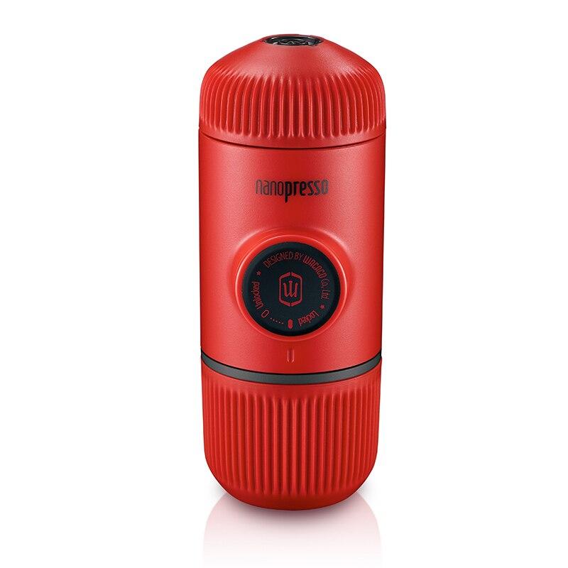 Wacaco Nanopresso Portable Espresso Coffee Maker, Upgrade Version of Minipresso, 18 Bar Pressure, Red Patrol Edition.