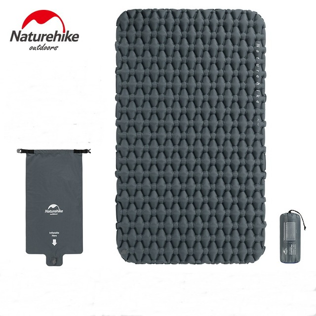 Naturehike Outdoor 2 Person Inflatable Mattress Ultralight Sleeping Pads Air Mattresses Camping Air Cushion With Fill Air Bag 1