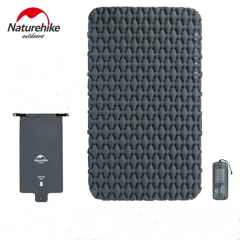 Naturehike Outdoor 2 Person Inflatable Mattress Ultralight Sleeping Pads Air Mattresses Camping Mat Cushion With Fill Air Bag