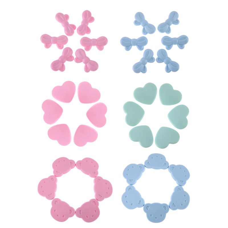 6pcs/set Colorful Lovely Cartoon Safety Pins Buckle Brooches Headwear for Women Kids