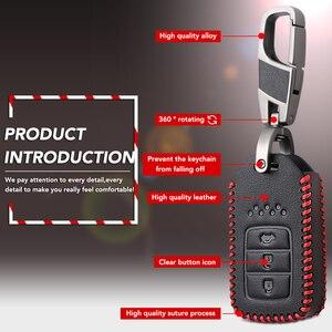 Image 3 - Anahtar şekli 3 düğme araba anahtarı durum kapak için Honda Accord 9 Crider şehir 2015 2016 HRV CRV Vezel spirior Odyssey Civic Fit yeşim