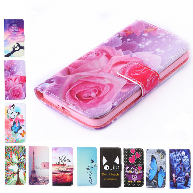 Luxury Two Side Painting Wallet Phone Cover Rose Flower Tower Pattern Flip Leather Case For Xiaomi Redmi 3 Pro 3s Note3 Note 4X
