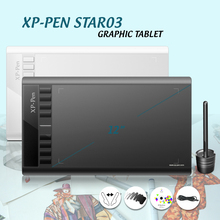 XP-Pen Star 03 Parblo A610( Ugee M708 ) Graphics Drawing Tablet with Battery-free PASSIVE Pen Digital Pen Good as Huion H610 Pro