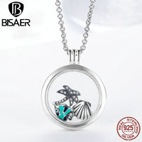 925 Sterling Silver Tropical Paradise Petites, Fish Sea Shell & Coconut Tree Mix Enamel Locket Pendants Necklace Petite Memories