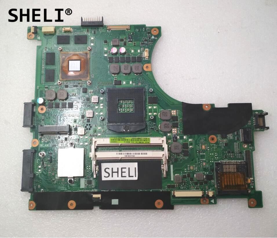 SHELI For N56VZ N56VM Motherboard with GT650M 2GB 60-N9IMB1101-C11 69N0M4M11C11P n56vm rev 2 3 laptop motherboard suitable for asus n56vm n56vj n56vz gt630m hm76 system motherboard original new