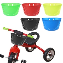 QILEJVS Bicycle Basket For Children Bike Plastic Pannier Front Handlebar Carrier Storage NEW