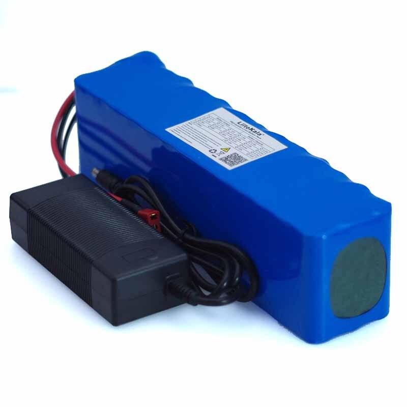 LiitoKala 48 v 7.8ah 13s3p haute puissance 18650 batterie de moto électrique bricolage chargeur de batterie BMS Protection + 2A
