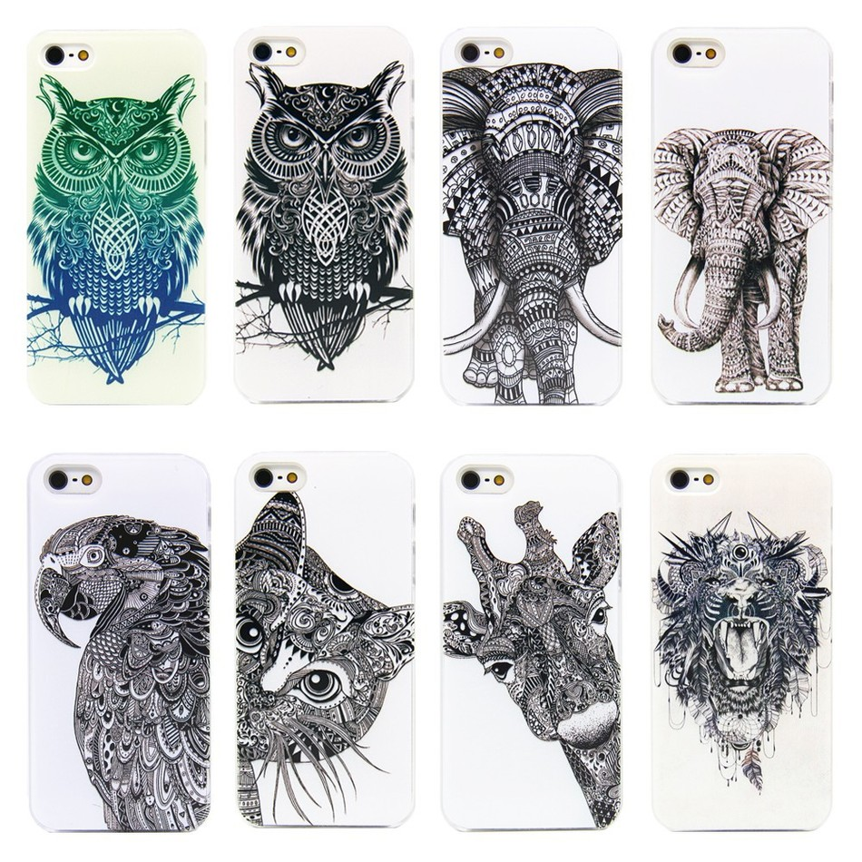 Fashion sketches new fashion sketches - Fashion Sketch Animal Cell Phone Case For Iphone 4 4s 5 5s Se 5c 6 6s
