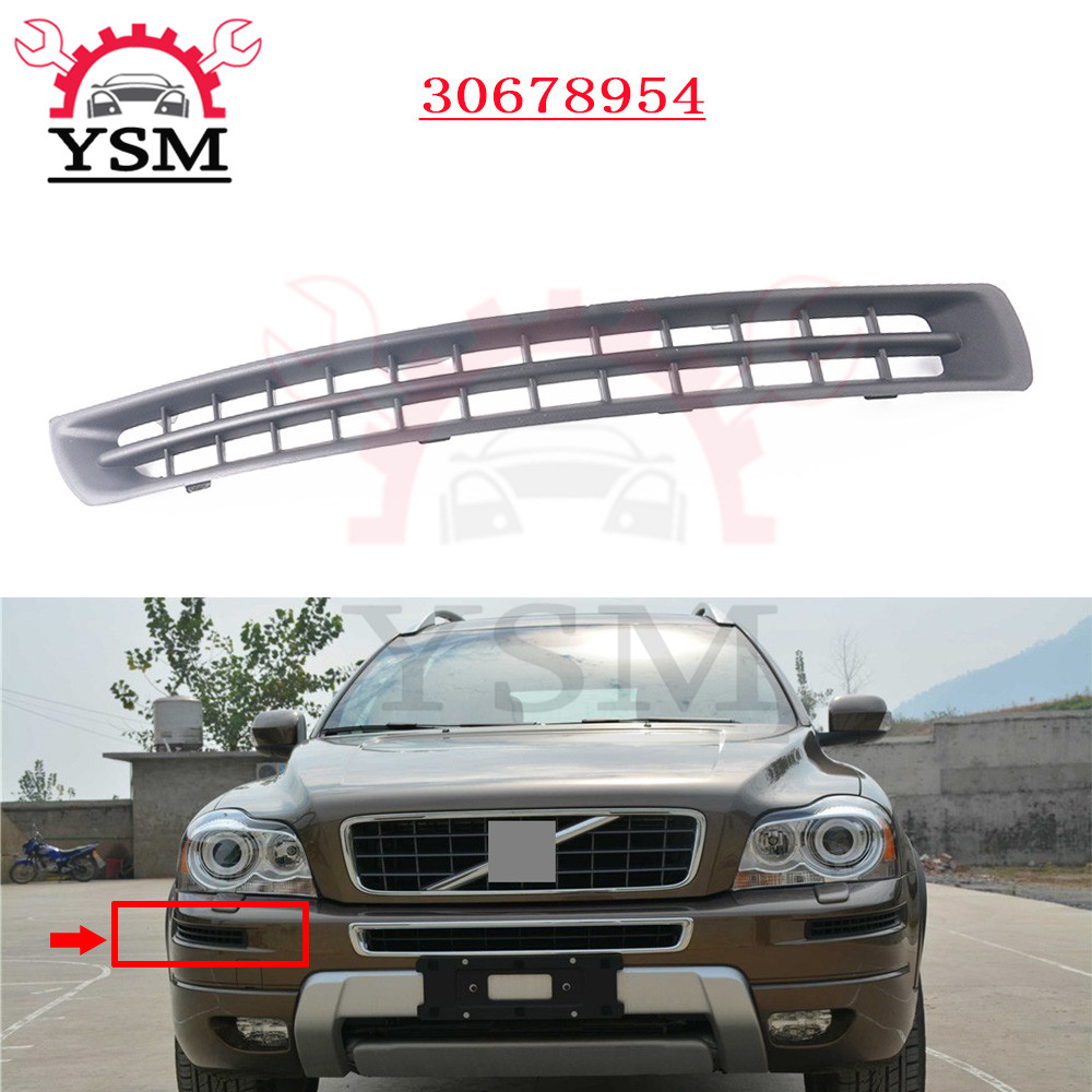 Black Front Bumper Grille Cover Lid Right Side For Volvo