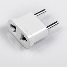 1 шт. США в ЕС Plug Адаптер Питания Белый Travel Power Plug Адаптер Конвертер Стены AC Power Plug