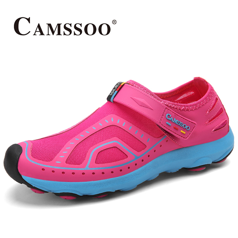 2017 Camssoo Womens Water Shoes Summer Quick Dry Beach Shoes Non-slip Breathable Mesh River Shoes For Female Free Shipping 6026  2017 clorts womens water shoes summer outdoor beach shoes quick dry breathable aqua shoes for female green free shipping wt 24a
