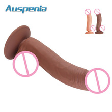 208*38mm Flexible Big Cock For Women Adult Sex Toys Silicone Dildo With Strong Suction Base Female Masturbation Realistic Penis