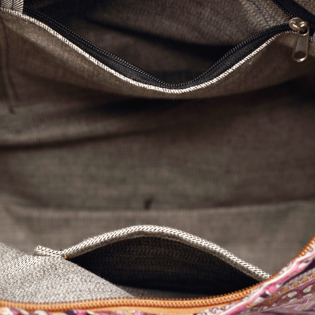 Women Messenger Bag Cotton Fabric Shoulder Bag Bohemian Chic Hobo Bag Gypsy Bag Travel Tote Sling Handbag 5