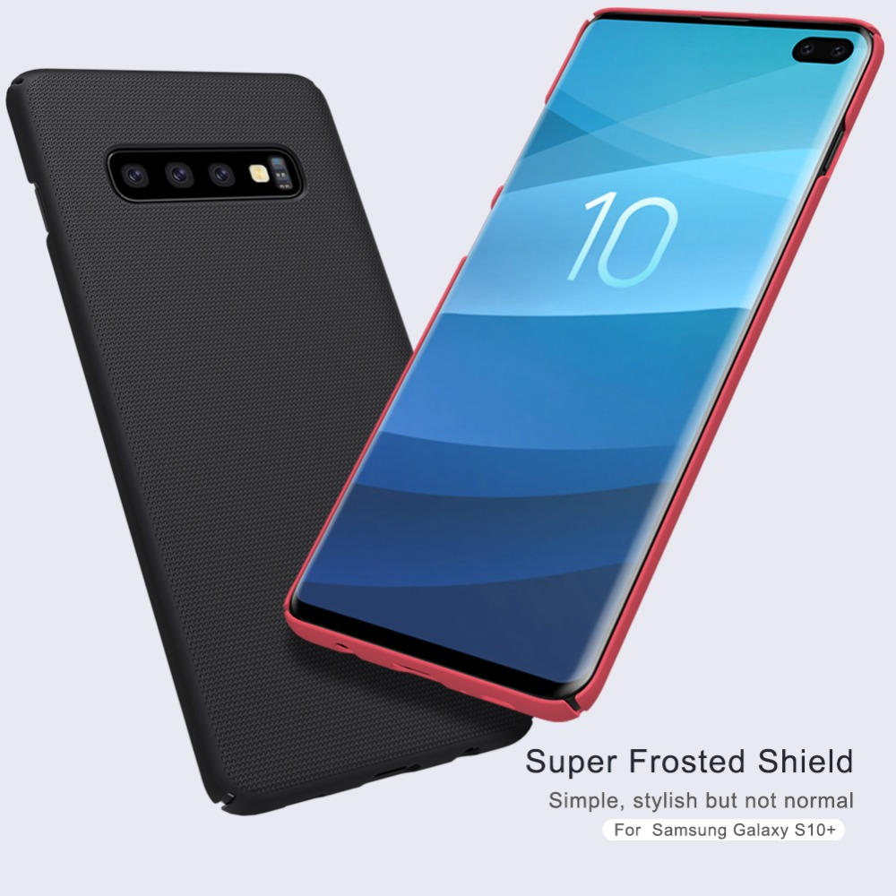 For Samsung Galaxy S10 Plus Case Super Frosted Hard Cover Slim Phone Case For Samsung Galaxy S10 Plus Nilkin Capa Cases