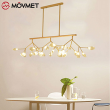 Modern Led Pendant Light Nordic Acrylic Branches Dining Room Kitchen Designer Industrial Hanging Lamps Lighting