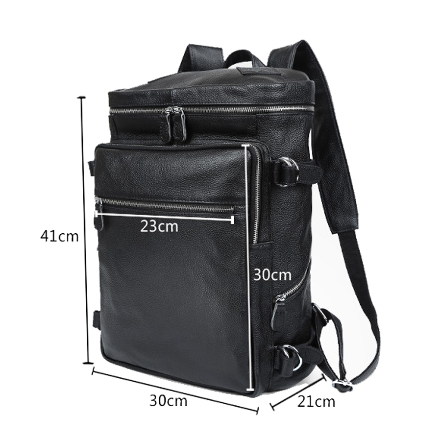 c9fceb5ece02 genuine leather male backpacks really cowhide big travel duffle bag  business mochila double shoulder bags good quality backpack-in Backpacks  from Luggage ...