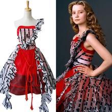 Костюм Тима Бертона для взрослых Алисы в стране чудес; платье Алисы; карнавальный костюм на Хэллоуин; карнавальные костюмы