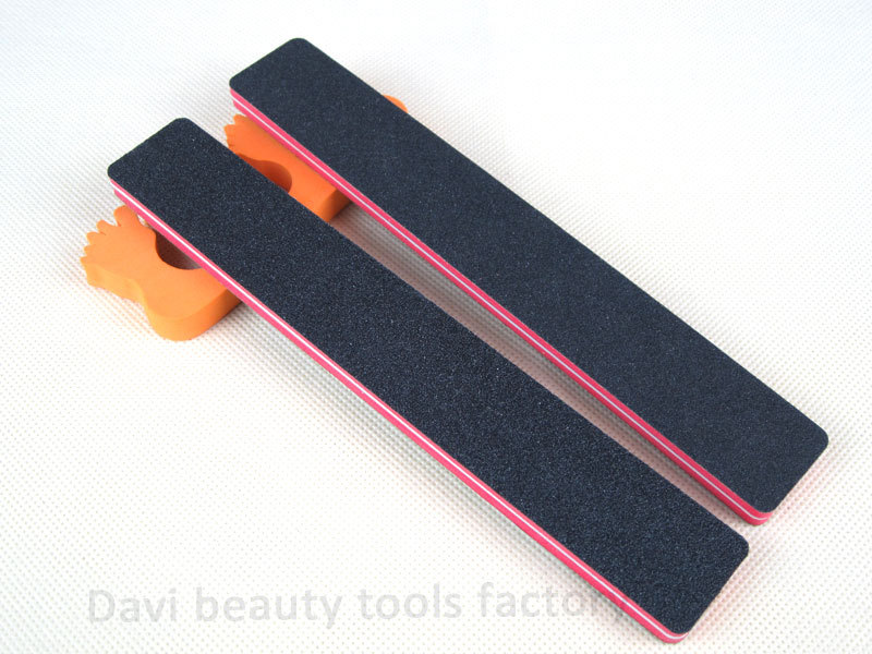 Nail File 50pcs Lot Rectangular Red Sponge Black Sandpaper Emery Board Tools For Art Free Shipping Sc0621 02 In Files Buffers From Beauty