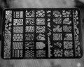 2017 NUEVO 14.5*9.5 CM HK Gran Nail Art Sello de Imagen Plate Raspador Plantillas DIY Nail Polish Art Manucure herramientas HK-06, envío libre
