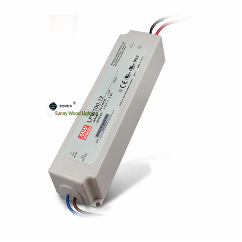 100-240Vac to 12VDC ,100W ,12V8.5A  IP67  power supply ,outdoor Led light,led signboard waterproof driver ,LPV-100-12 90w led driver dc40v 2 7a high power led driver for flood light street light ip65 constant current drive power supply