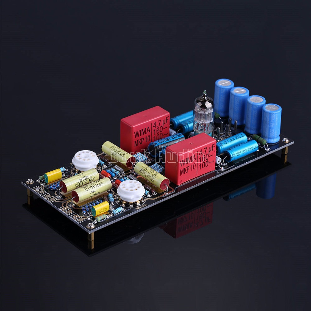 Nobsound Latest HiFi MM Moving Magnet Tube Phono Stage Preamp LP Vinyl Turntable Pre-Amplifier Board Reference M65 Circuit tube mm phono stage amplifier board pcba ear834 circuit vinyl lp amp no including 12ax7 tubes riaa hifi audio diy free shipping