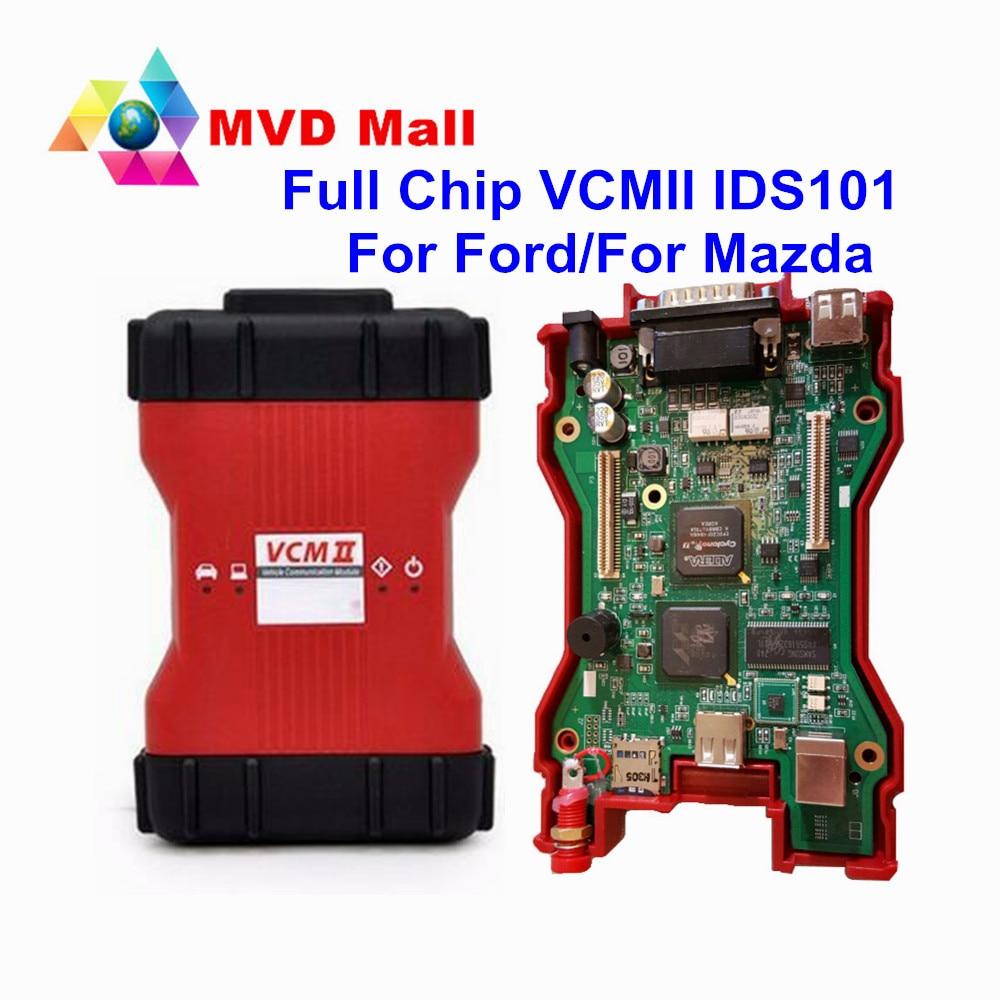 Цена за Для Ford VCMII IDS 101 полный чип инструмент диагностики для ford VCM2 Поддержка нескольких языков VCMII VCM 2 работы Для Ford/Mazda CNP Бесплатная