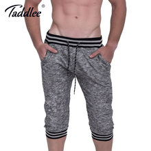 Taddlee Brand Men Cotton Shorts Gym Running Sports Fitness Gasp Short Bottoms Boxer Trunks Bodybuilding Training Shorts(China)