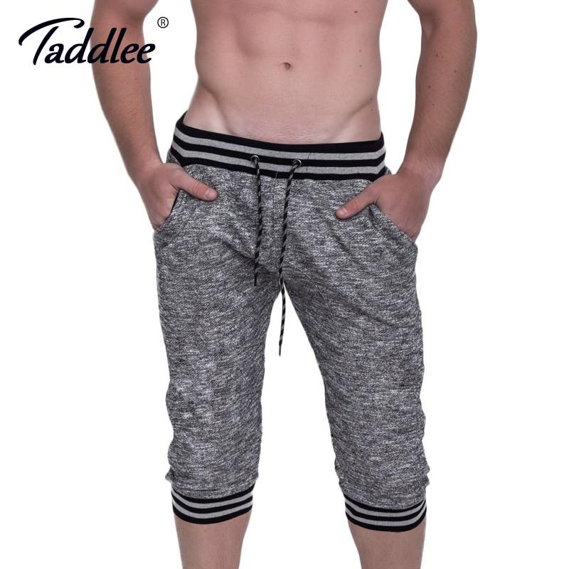 Lauf Taddlee Marke Männer Baumwolle Shorts Gym Laufsport Fitness Gasp Kurze Bottoms Boxer Badehose Bodybuilding Training Shorts Guter Geschmack