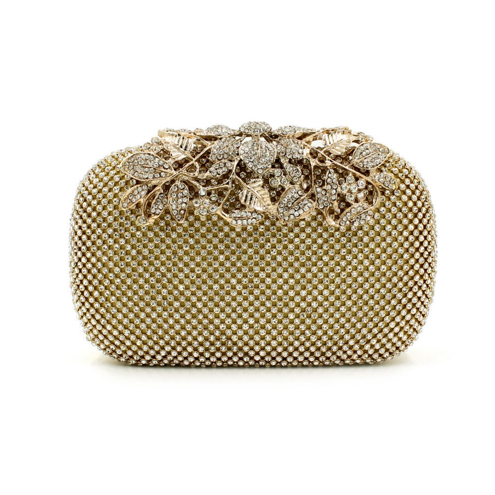 f849f20c87af New Both Side Diamond Flower Crystal Evening Bag Clutch Bags Upscale  Styling Day Clutches Lady Wedding