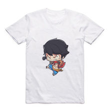 Cartoon Cute Luffy/Portgas D Ace/Zoro/Sabo/Sanji/Usopp Round Neck Street Men's T-shirt Anime Modal Summer Jacket(China)