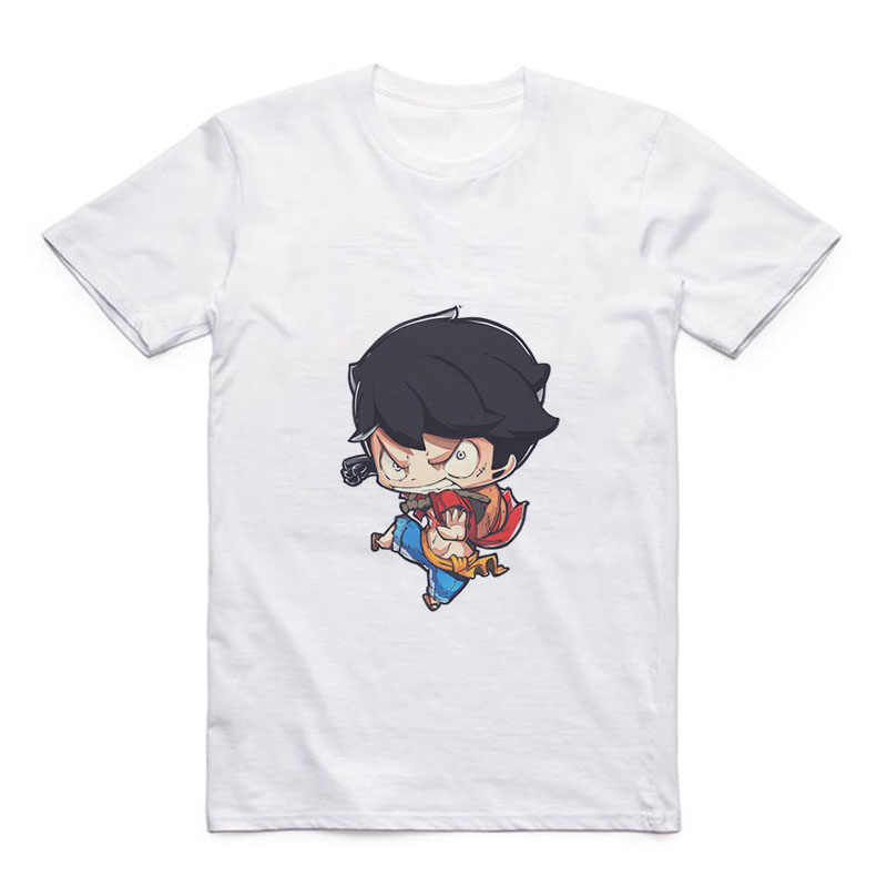 Cartoon Cute Luffy/Portgas D Ace/Zoro/Sabo/Sanji/Usopp Round Neck Street Men's T-shirt Anime Modal Summer Jacket
