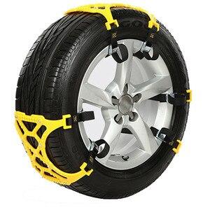 Image 2 - 6pcs 자동차 타이어 스노우 체인 유니버설 짙어지면서 조정 가능한 안티 스키드 체인 안전 더블 스냅 스키드 휠 타이어 체인 스파이크