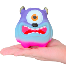 лучшая цена Jumbo Cute Monster Squishy Cartoon Slow Rising Simulation Bread Scented Stress Relief Squeeze Toy Funny Gift Toy for Children