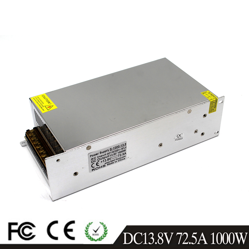 DC13 8V 72 5A 1000W AC to DC Switching power supply 13 8V constant voltage led