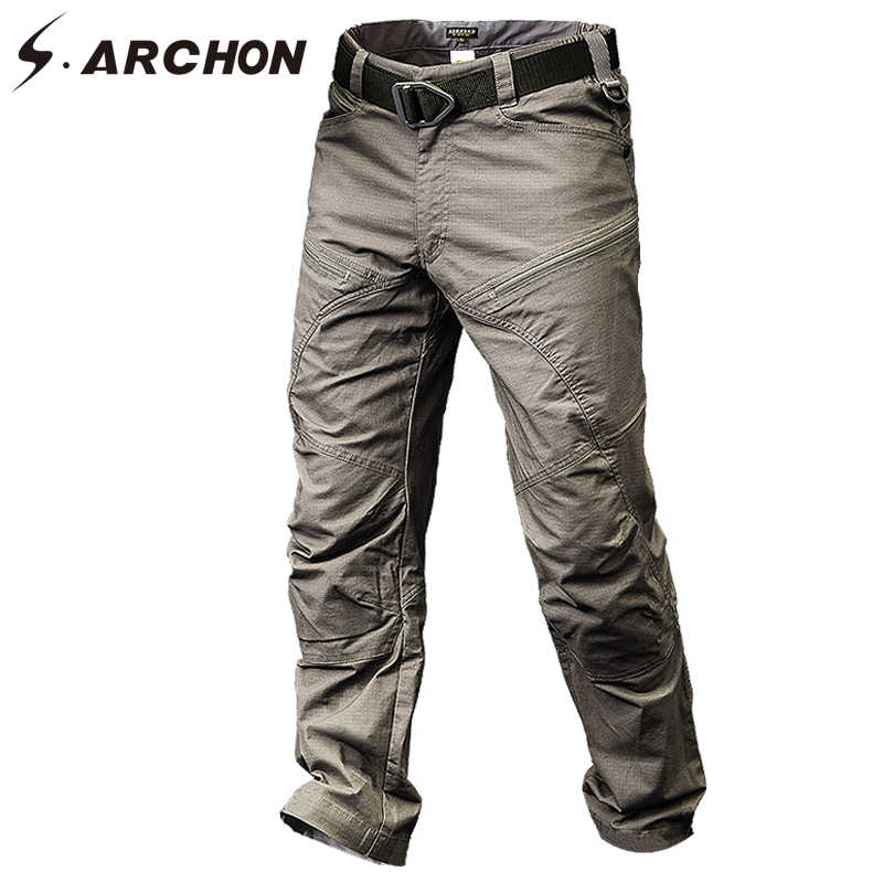 Military Tactical Cargo Pants Men Special Force Army Combat Pants SWAT Waterproof Large Multi Pocket Cotton Trousers