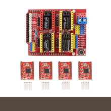 A4988 Stepper Motor Driver with Heat Sink + CNC Shield Expansion Board for Arduino V3 Engraver New 3D0321
