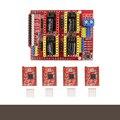 A4988 Драйвер Шагового Двигателя с Радиатором + ЧПУ Щит Плата Расширения для Arduino V3 Гравер Новый 3D0321