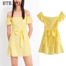 Summer dress women 2019 Fashion Solid color cotton Lace-up above knee mini dresses vestidos de fiesta party BTB.WO