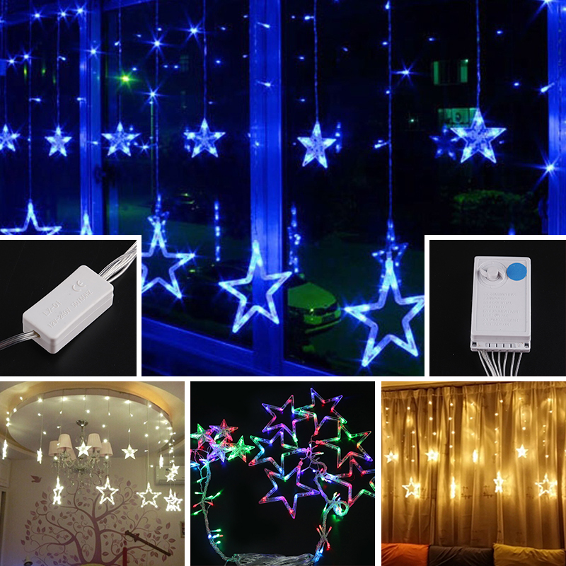 138 Leds Bulbs Romantic Stars Modelling LED Xmas Optical String Flashing Light Christmas Shinning String Leds 4 Different Types
