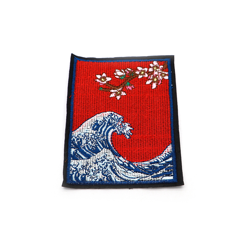 50pcs lot Top Patches Sew on Waves and Flowers Embroidery Patch Motif Applique Women DIY Clothes