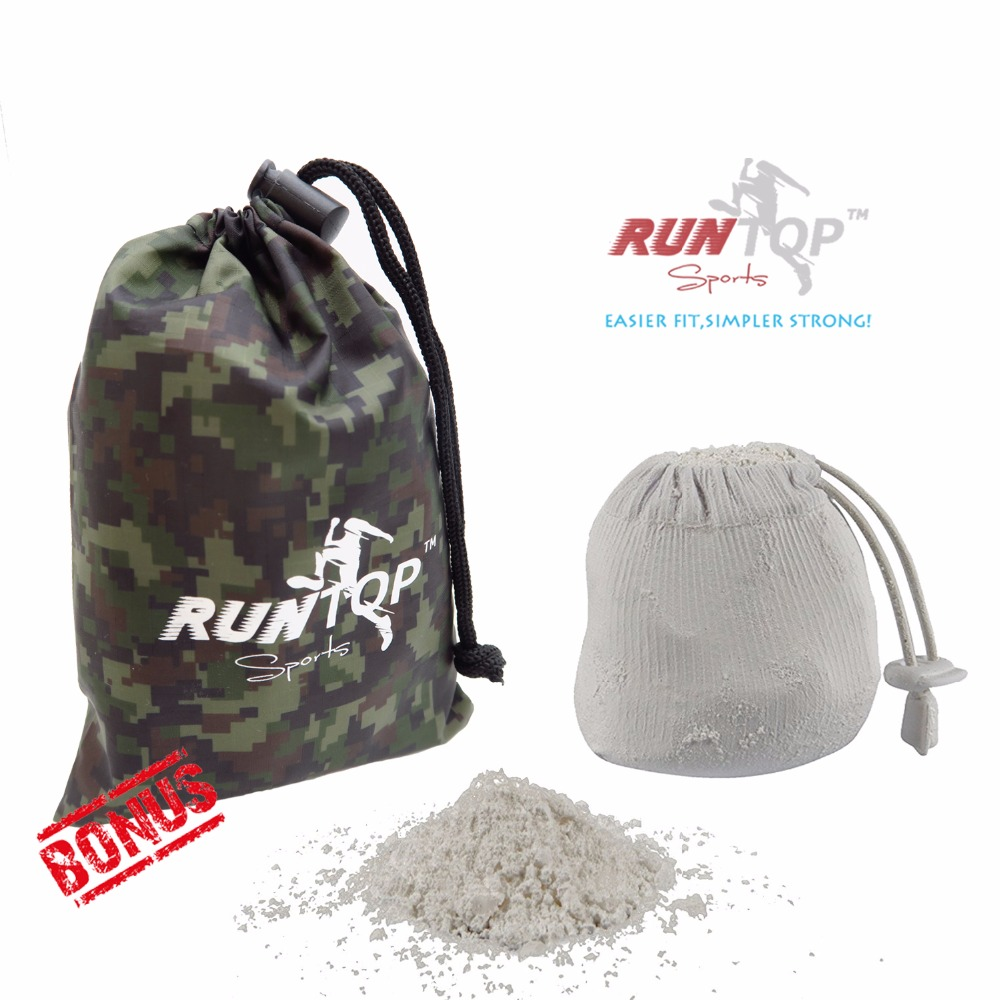 RUNTOP 2.4OZ Refillable Magnesium Carbonate GYM Chalk Ball for Weight lifting Crossfit WODS Rock Climbing PowerLifting No Slip цена