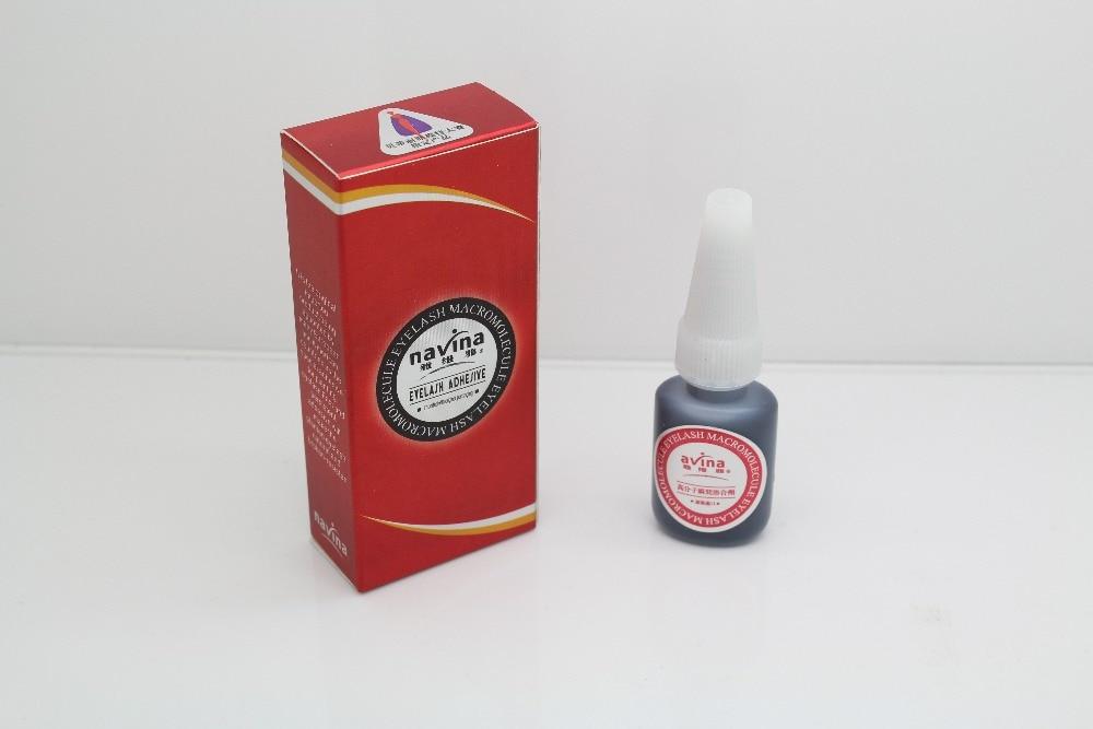 Navinaブランドオリジナルパッケージプロフェッショナル10gまつげ接着剤化粧液レッドボックス高分子接着剤まつげ接着剤