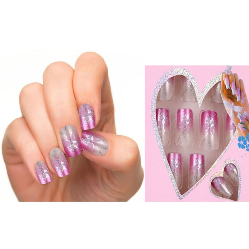 Jq design fake nails french false nails beautiful nail tips for jq design fake nails french false nails beautiful nail tips for nail art fashion fingernail free glue 24pcs pre in false nails from beauty health on prinsesfo Image collections